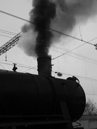 locomotora: humo de la locomotora