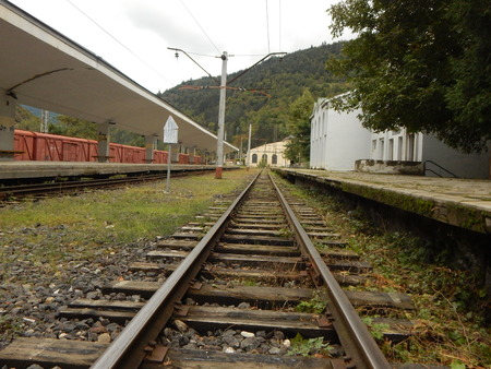 narrowgauge: Railway station in Borjomi