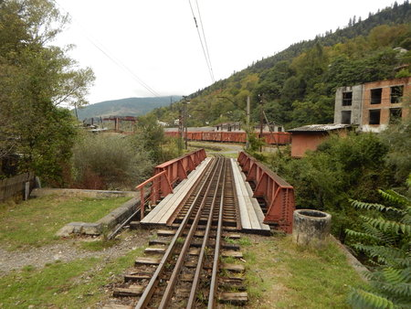 narrowgauge: Railway bridge in Borjomi