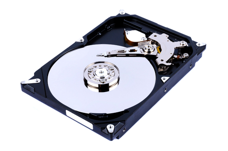 device disc: Internal Harddrive HDD isolated on white background Stock Photo
