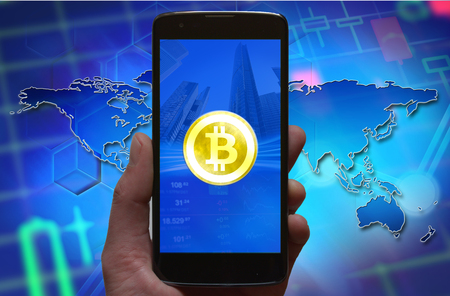 Bitcoin, cryptocurrency investment business concept