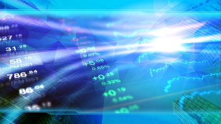 Financiën, bedrijven, economie, beleggen behang. Collectieve blauwe ontwerpachtergrond, kopbalbeeld voor financieel nieuws. Stockfoto - 90574381