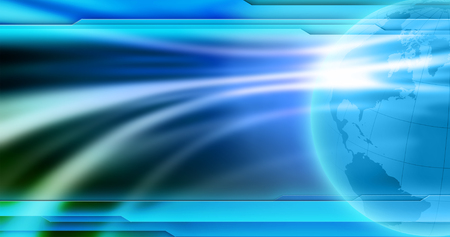 News background wallpaper. Abstract empty blue background for global news image. Banque d'images