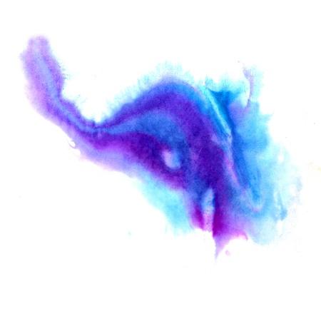 watercolor blot hand isolated stain raster illustration Stock Illustration - 16692589