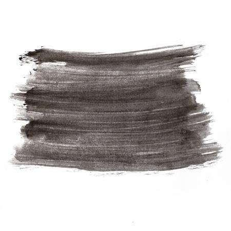 watercolor black square blot hand isolated stain raster illustration Stock Illustration - 16692595