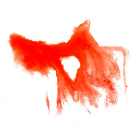 watercolor red blot hand isolated stain raster illustration Stock Illustration - 16692588