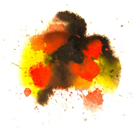 black red yellow spot blotch texture isolated on a white backgro Stock Photo - 16718682
