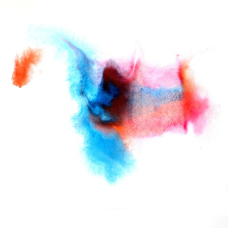 blue red Blob watercolor paint brush watercolour color stroke ba