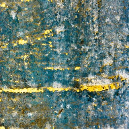 blue retro texture with yellow cracks Stock Photo - 16718779
