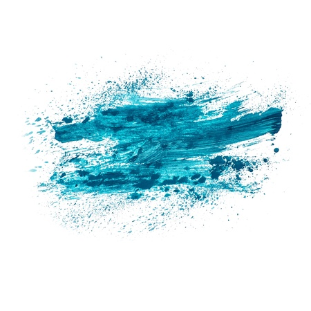 blotch: blue watercolors spot blotch isolated