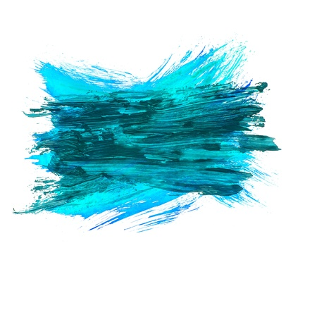 blue watercolors spot blotch isolated Stock Photo - 16718714