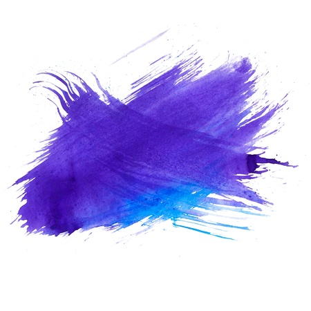 blue watercolors spot blotch isolated Stock Photo - 16718690