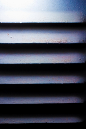 blue texture of old iron shutters ventilation Stock Photo - 16747043