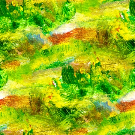 macro seamless texture green oil painting on canvas with brush strokes photo