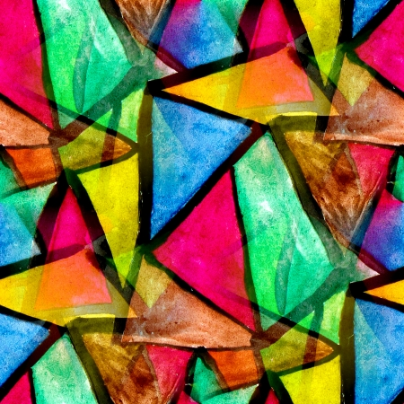 mosaic pattern of bright colorful watercolor seamless background photo