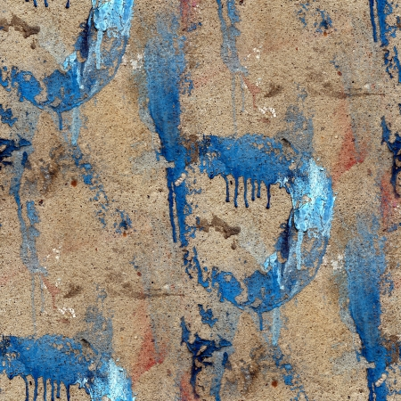 old concrete wall with streaks of blue paint seamless texture Stock Photo - 16862549