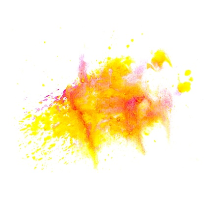 orange yellow macro spot blotch texture isolated on a white background