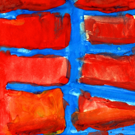 red blue abstract texture design gouache Stock Photo - 16868468