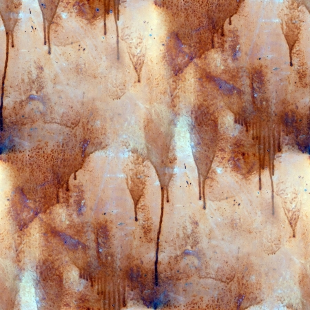 rust paint flowed seamless texture wallpaper iron Stock Photo - 16866887