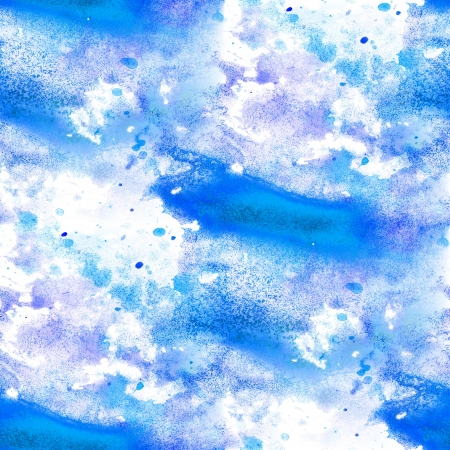 seamless abstract blue watercolor blot texture patch  on white background Stock Photo - 16868523