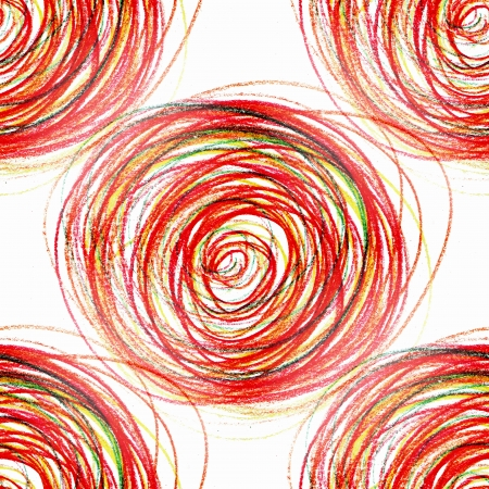 seamless abstract red painting colored circles texture pencil line photo