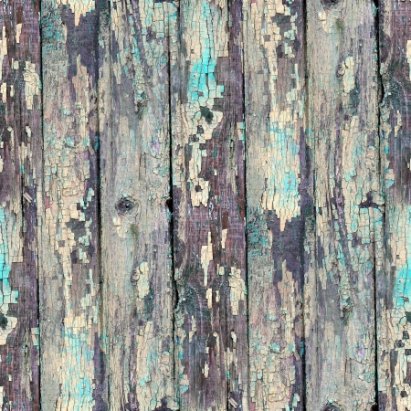 seamless blue texture old wood with cracks Stock Photo
