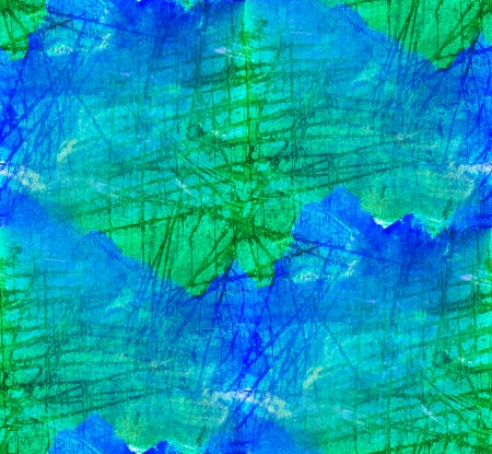 seamless painting blue green watercolor with bright brushstrokes and blotches photo