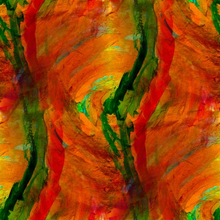 seamless painting red yellow orange green watercolor with bright brushstrokes and blotches photo