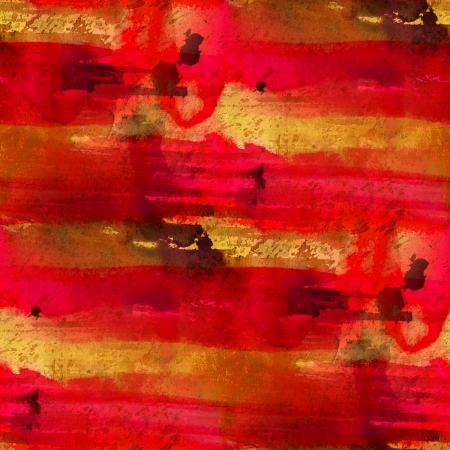 seamless painting red yellow orange watercolor blue with bright brushstrokes and blotches photo