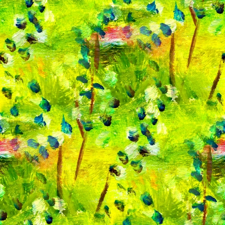 seamless texture macro green oil painting on canvas with brush strokes photo