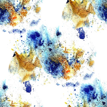 seamless texture of blue blotches and smears of paint stains Stock Photo - 16867627
