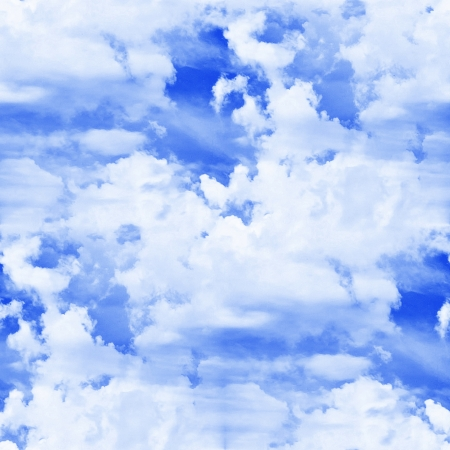 seamless texture of blue clouds