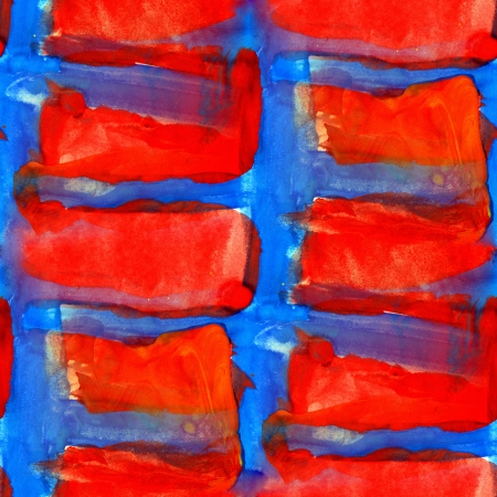 seamless texture of brush strokes the artist's red and blue Stock Photo - 16868480