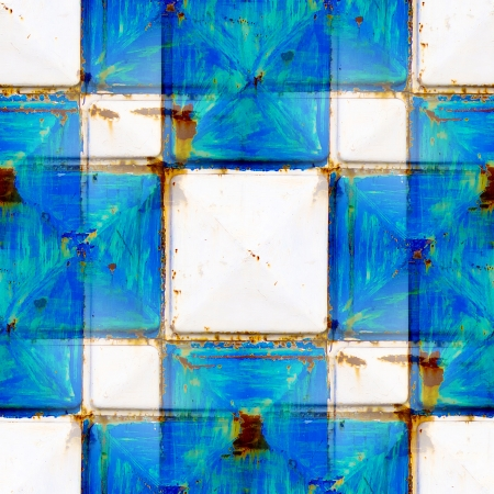 texture seamless rusty white and blue squares photo