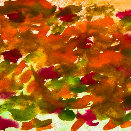 smears: abstract smears watercolor background orange red green