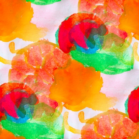 watercolor red yellow green orange seamless abstract texture hand painted background photo