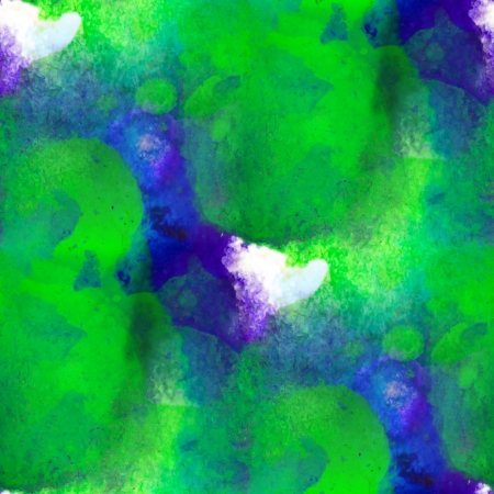 watercolor texture green blue painting  background with blots photo