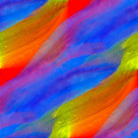 watercolor texture painting blue red yellow colorful background with blots photo
