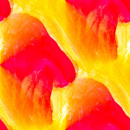 watercolor yellow, red seamless abstract texture hand painted background photo