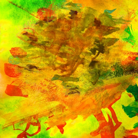 blotches: yellow watercolor brushstrokes and blotches background