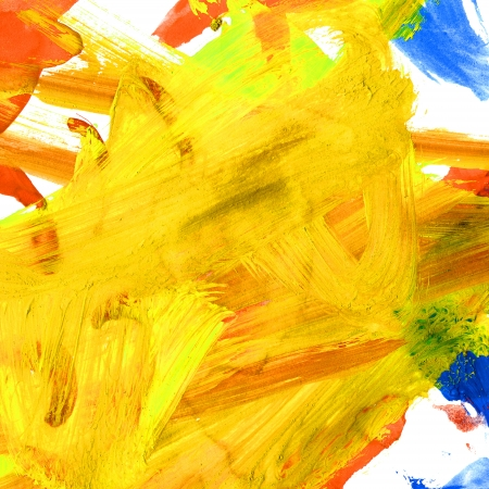 watercolor yellow brushstrokes texture Stock Photo - 16868021
