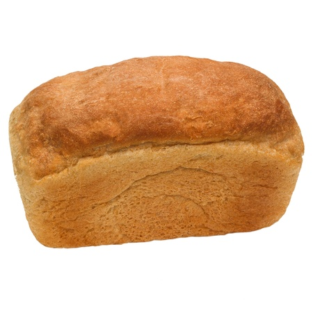 loaf of bread russian isolated on white background photo