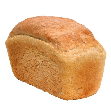 loaf of bread russian isolated on white (clipping path) photo
