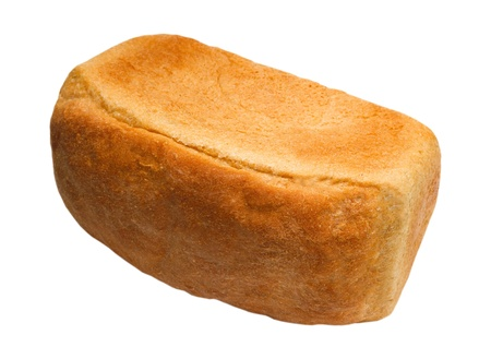 loaf yummy of bread russian isolated on white background (clipping path) photo