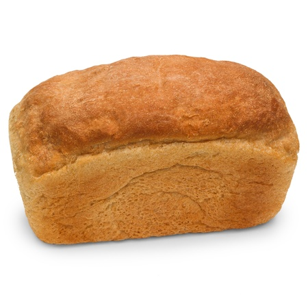 russian loaf of bread isolated on white background photo