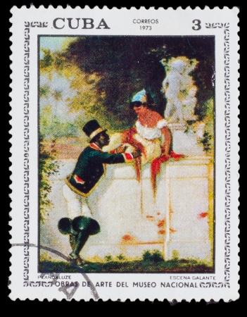 CUBA - CIRCA 1973: Stamp printed in CUBA, Artist Plandaluze