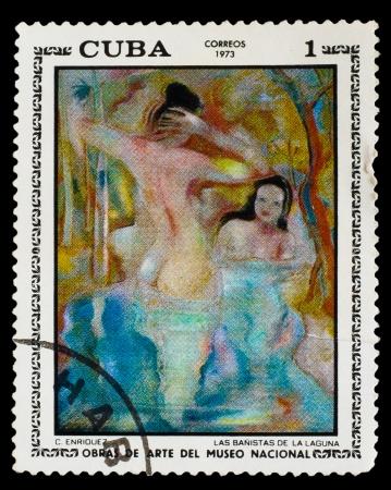 CUBA - CIRCA 1973: A stamp printed by CUBA , C. Enriquez