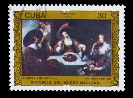 CUBA - CIRCA 1986: A Stamp printed in CUBA, shows anonymous flamenco
