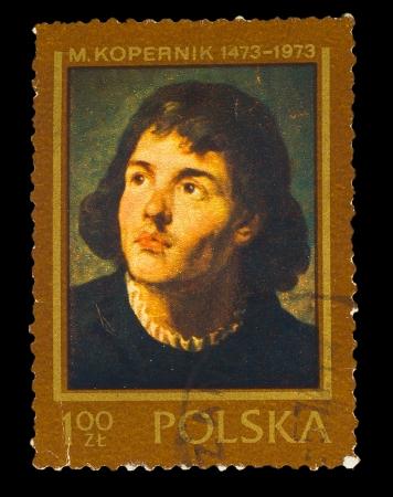protectorate: POLAND - CIRCA 1973 : Stamp printed in Poland, showing Nicolaus Copernicus, circa 1973