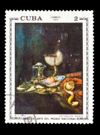 CUBA - CIRCA 1973: A stamp printed by CUBA, W.C.Heda